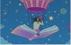 Girl Flying an Open book